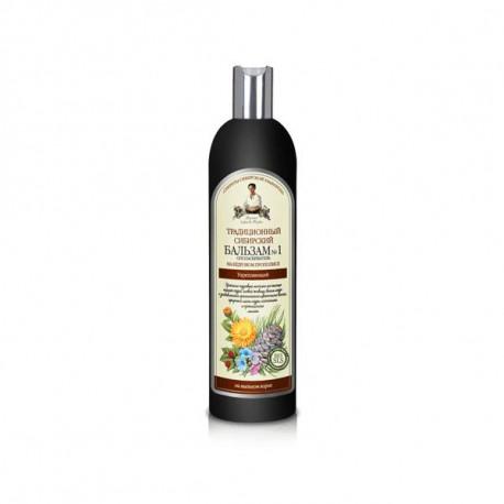 Babuszka Agafia - Tradycyjny syberyjski BALSAM do włosów NR 1 na cedrowym propolisie, wzmacniający włosy osłabione 550ml