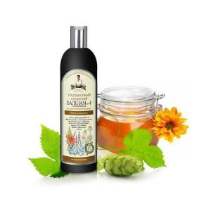 Babuszka Agafia Syberyjski Balsam Nr4 na Kwiatowym Propolisie dla Objętości i Blasku, 550ml