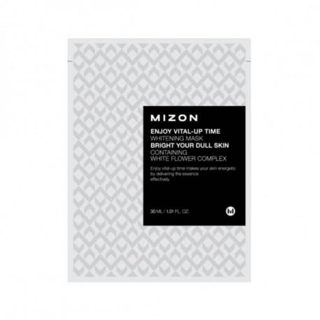 Enjoy Vital-Up Time Whitening Mask - Rozjaśniająca maska z białą lilią, Mizon