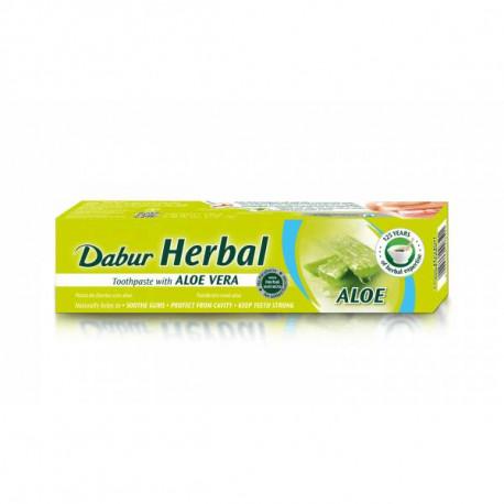 Ziołowa pasta do zębów z aloesem bez fluoru, 100ml, Dabur