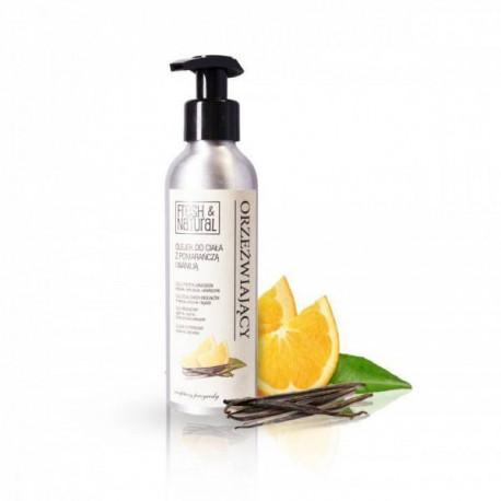Orzeźwiający olejek do ciała z pomarańczą i wanilią, 150ml, Fresh & Natural