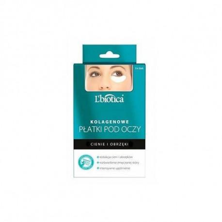Kolagenowe płatki pod oczy - Redukcja cieni i obrzęków, L'biotica