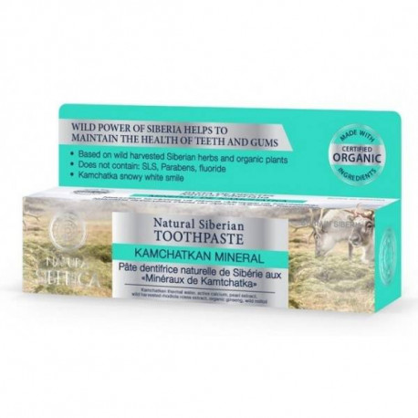 Syberyjska pasta do zębów wzmacniająca szkliwo - Minerały Kamczatki, 100ml, Natura Siberica