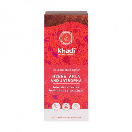 Henna naturalna z amlą i jatrophą, 100g, Khadi