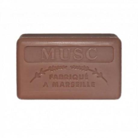 Mydło marsylskie z masłem shea - Piżmo / Musc, 125g, Foufour