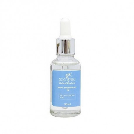 Kwas hialuronowy 1% w szklanej butelce, 30ml, Biocosmetics