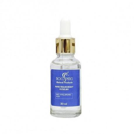 Kwas hialuronowy potrójny w szklanej butelce, 30ml, Biocosmetisc