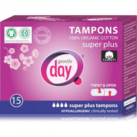 Gentle Day Ekologiczne tampony Super Plus, 15 szt
