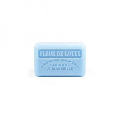 Mydło marsylskie z masłem shea - Kwiat lotosu, 125g, Foufour