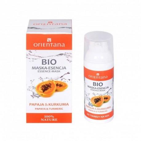 Orientana, Bio Maska-esencja, Papaja i kurkuma, 50ml