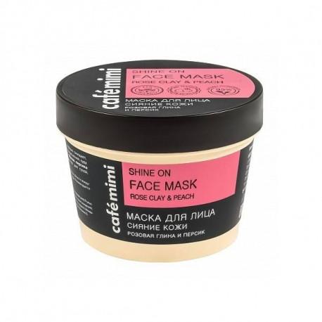 CAFE MIMI Maska do twarzy Promienność skóry- Różowa glinka i brzoskwinia, 110 ml