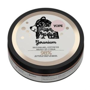 Naturalne, Odżywcze Masło do Ciała, Geranium, Yope, 200ml