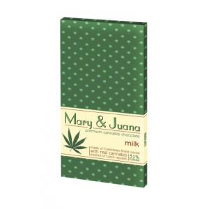 Czekolada mleczna Mary & Juana z nasionami konopii