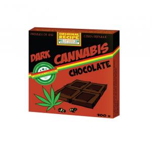 Czekolada gorzka Cannabis z łuskanymi nasionami konopii 100g