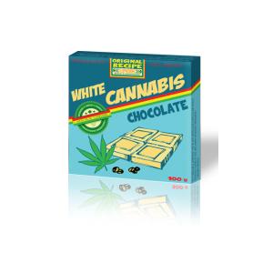 Czekolada biała Cannabis z łuskanymi nasionami konopii 100g