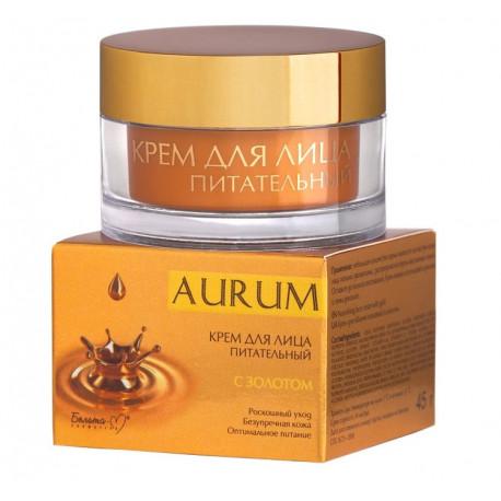 Krem odżywczy do twarzy AURUM - złoto, argan, shea 45g