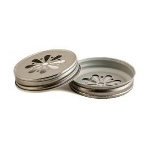 Крышка Daisy Lid Regular для банок Mason - серебряная