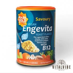 Дрожжевые хлопья ENGEVITA с витамином B12 - 125 g (неактивные сушеные дрожжи)