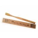 EKO szczoteczka bambusowa Mohani WŁOSIE ŚREDNIE - naturalna
