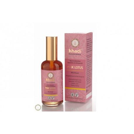 Ajurwedyjski olejek do twarzy i ciała z różowym lotosem Khadi 100 ml