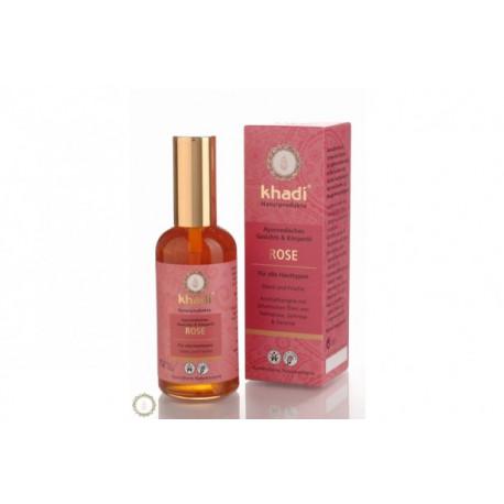 Ajurwedyjski olejek do twarzy i ciała z różą Khadi 100 ml