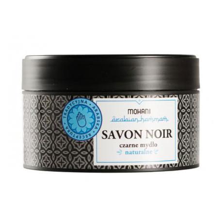 Savon Noir - marokańskie czarne mydło z oliwą z czarnych oliwek 200g MOHANI