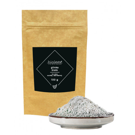 Glinka biała (kaolin) BIOLEEV 100 g