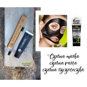 Czarne trio: pasta ECODENTA plus ekoszczoteczka plus czarna maska