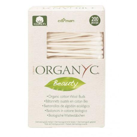 Eko patyczki higieniczne ORGANYC, bawełna i karton, 200 szt.