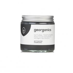 GEORGANICS Mineralna pasta do zębów w słoiku z aktywnym węglem i miętą pieprzową 60ml