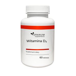 Witamina D3, 60 tabletek, Granum
