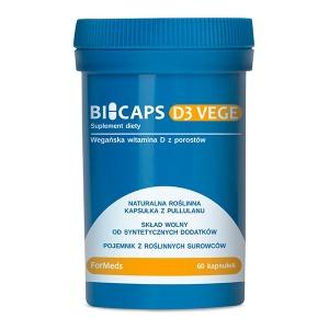 Bicaps D3 Vege, 60 kapsułek, ForMeds