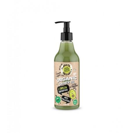 Żel pod prysznic Anti-Pollution - 7 zielonych skarbów organicznych, 500ml, Planeta Organica