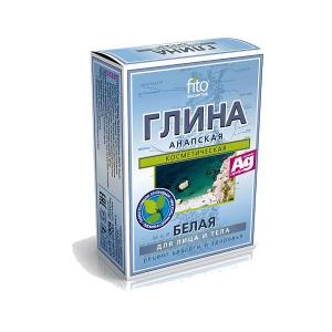 Biała glinka anapska ze srebrem, 100g, Fitokosmetik