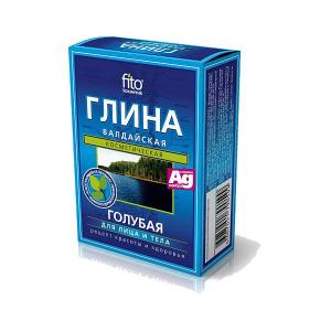 Błękitna glinka wałdajska ze srebrem, 100g, Fitokosmetik