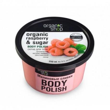 Organic Shop Peeling do Ciała Malinowy Krem 250m