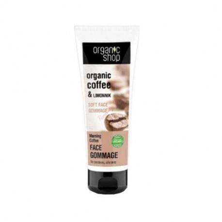 Delikatny peeling do twarzy - Poranna kawa, 75ml, Organic Shop