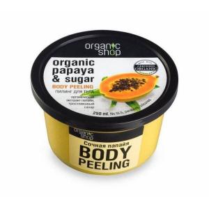 Organic Shop Organiczny peeling do ciała Soczysta papaja 250ml