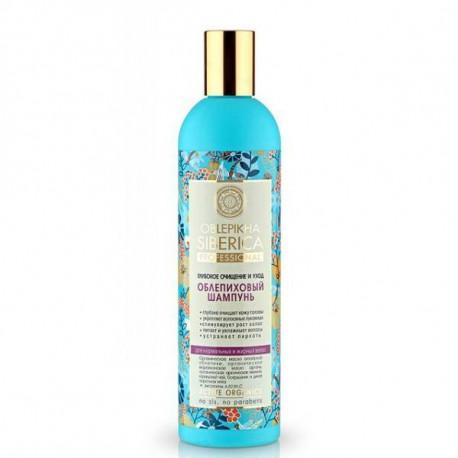 Natura Siberica, Oczyszczający szampon rokitnikowy dla normalnych i przetłuszczających się włosów