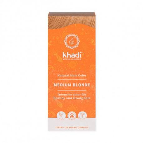 Henna naturalna - Średni blond, 100g, Khadi