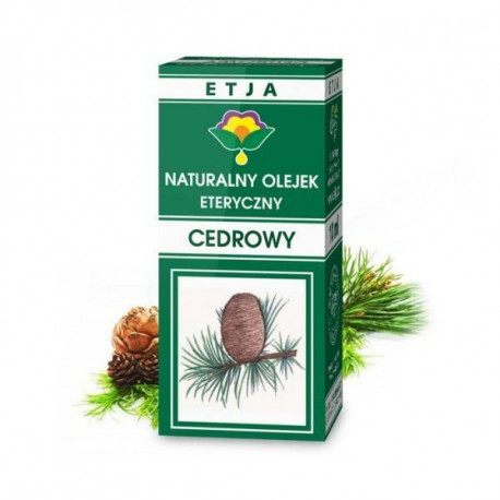 Naturalny olejek eteryczny cedrowy, 10ml, Etja
