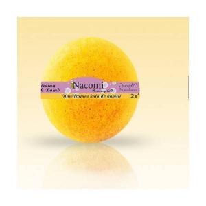 Musująca kula do kąpieli - Pomarańcza i wanilia 130g, Nacomi