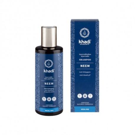 Przeciwłupieżowy szampon do włosów - Neem i rozmaryn, 210ml, Khadi