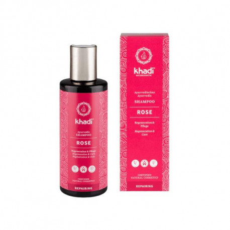 Odżywczy szampon do włosów - Róza, 210ml, Khadi