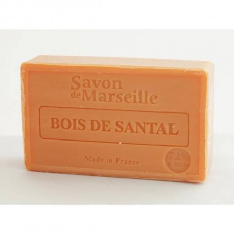 Mydło marsylskie z olejem ze słodkich migdałów - Drzewo sandałowe, 100g, Le Chatelard