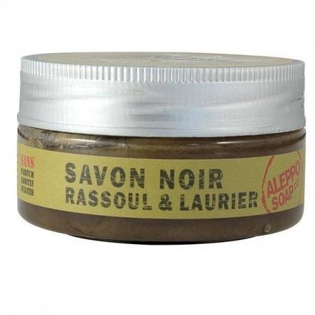 Czarne mydło savon noir z glinką rassoul i olejem laurowym, 140g, Aleppo Soap