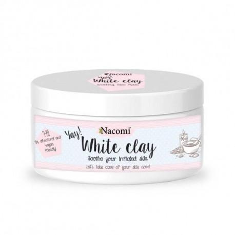 Nacomi - Naturalna glinka biała (kaolin). Nawilżająca i łagodząca - 50 g