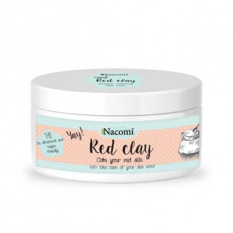 Nacomi Naturalna glinka czerwona wyrównująca koloryt 100 g