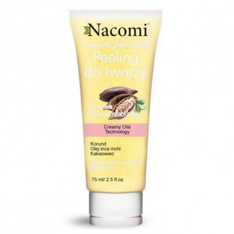 Nawilżający peeling do twarzy z korundem i olejem z migdałów, 85ml, Nacomi