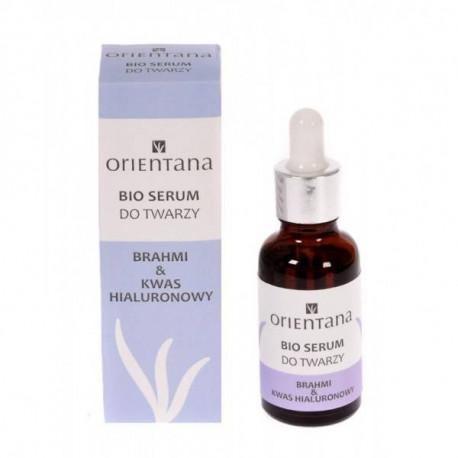 BIO serum do twarzy - Brahmi i kwas hialuronowy, 30ml, Orientana